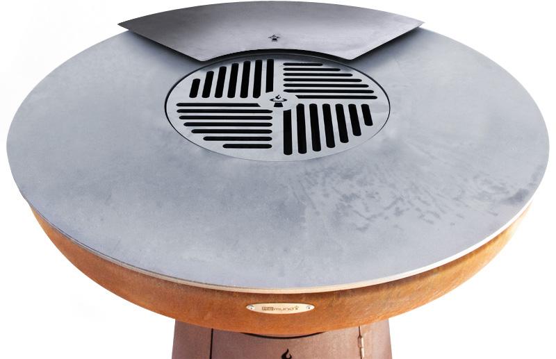 Remundi Grill Feuerstelle Grillplattenaufsatz